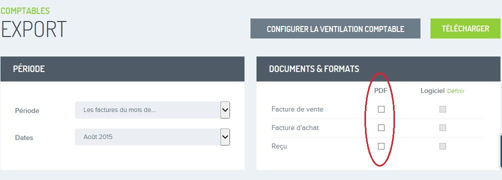Factures exporter pour comptable FR 1