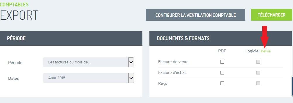Factures exporter pour comptable FR 2