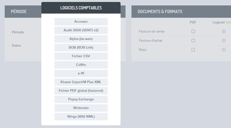 Factures exporter pour comptable FR 3
