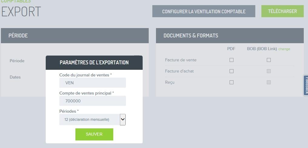 Factures exporter pour comptable FR 4