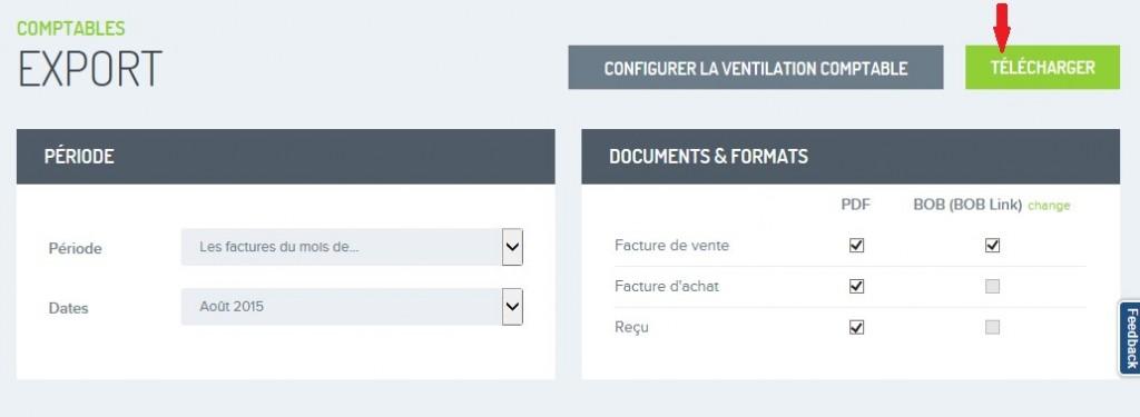 Factures exporter pour comptable FR 5