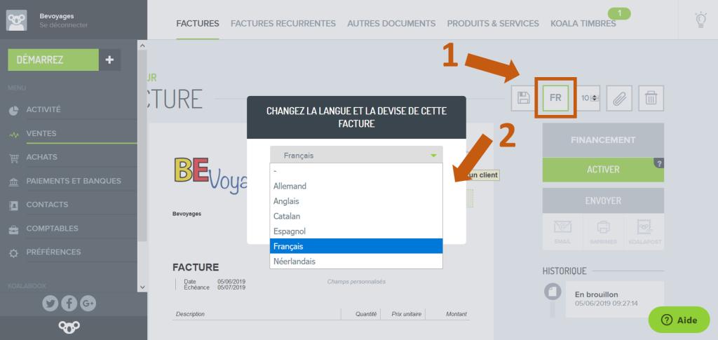 Choix_langue_facture_Koalaboox